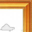 Nicole Золотая Рамка багетная универсальная для картины