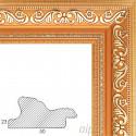 Jasmine Светло-коричневая с золотом Рамка багетная универсальная для картины