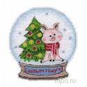 Снежный шар Набор для вышивания с магнитом Овен 1112