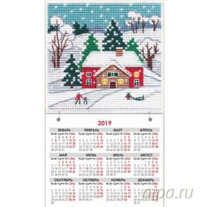 Зима. Времена года Набор для вышивания с магнитом Овен