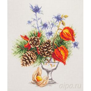 Зимний букетик Набор для вышивания Чудесная игла 100-001
