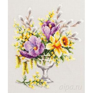 Весенний букетик Набор для вышивания Чудесная игла