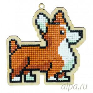 Собака Рокки Алмазная мозаика подвеска Гранни Wood W0106