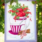 Яблоки и корица Набор для вышивания Золотое Руно СЖ-054