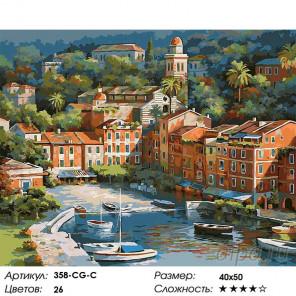 Количество цветов и сложность Солнечная Италия Раскраска картина по номерам на холсте Белоснежка 358-CG-C