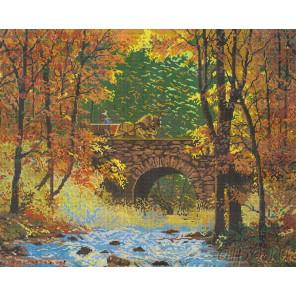 Осенний мост Набор для вышивания Белоснежка