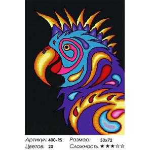Попугай Алмазная вышивка мозаика Белоснежка 400-RS
