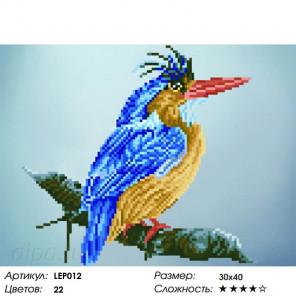 Количество цветов и сложнсоть Птица на ветке Алмазная мозаика на подрамнике LEP012