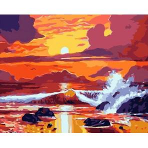 Бушующее море Раскраска картина по номерам на холсте