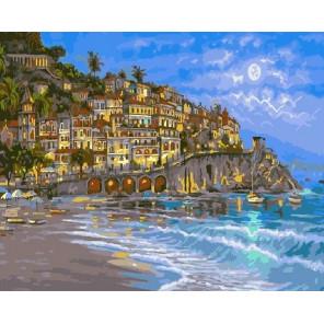 Лунный пейзаж Раскраска картина по номерам на холсте