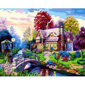 Вечерний пейзаж Раскраска картина по номерам на холсте