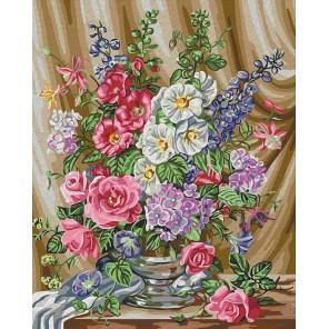 Розы в цвету Раскраска картина по номерам на холсте CG918