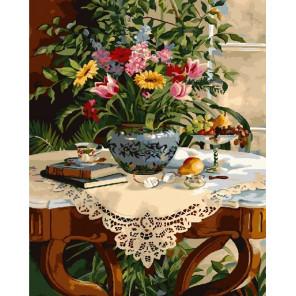 Утренний чай Раскраска картина по номерам на холсте CG930