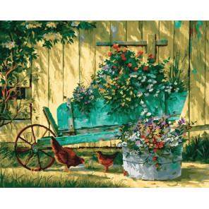 Садовая идиллия Раскраска картина по номерам на холсте CG937