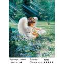 Количество цветов и сложность Ангелок с кроликом Алмазная мозаика на подрамнике LG099