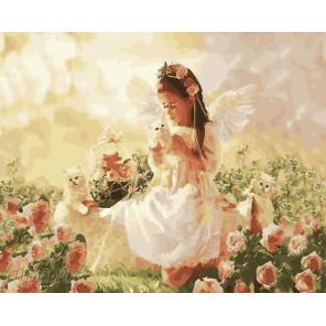 Ангелочек Раскраска по номерам на холсте CG941