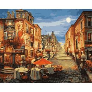 Парижское кафе Раскраска по номерам на холсте