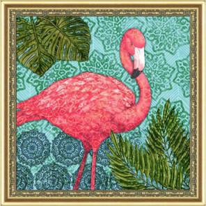 Экзотический фламинго Набор для создания картины из пайеток CMD008