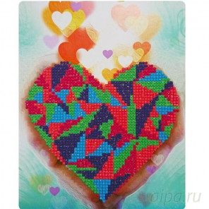 Сердце в Ваших руках Алмазная вышивка мозаика Color Kit M004