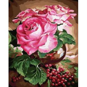 Розовый букет Раскраска по номерам на холсте