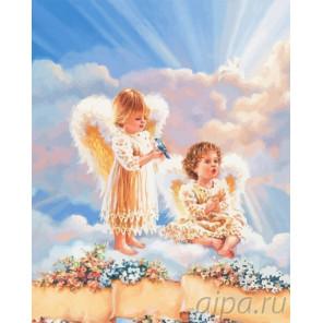 Ангелы любви Раскраска по номерам на холсте