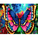 Бабочка Раскраска по номерам на холсте
