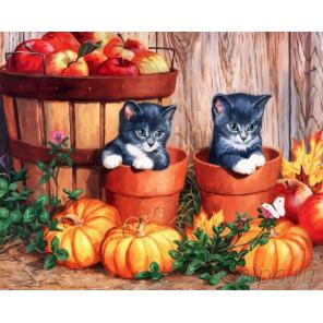 Осенний натюрморт Раскраска по номерам на холсте