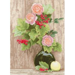 Калина и розы Набор для вышивания Золотое Руно