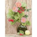 Калина и розы Набор для вышивания Золотое Руно СМ-027