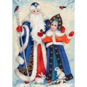 Дед Мороз и Снегурочка Набор для вышивания Золотое Руно