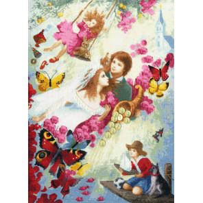 Семейное счастье Набор для вышивания Золотое Руно ЧМ-065