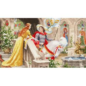 Рыцарь на белом коне Набор для вышивания Золотое Руно