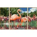 Фламинго Триптих Раскраска по номерам Schipper (Германия)