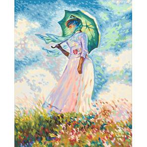 Дама с зонтиком (репродукция Клод Моне) Раскраска картина по номерам Schipper (Германия) 9130759