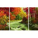 Осенний поток Триптих Раскраска по номерам Schipper (Германия)