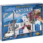 Внешний вид коробки - упаковки Санторини Триптих Раскраска по номерам Schipper (Германия) 9260783