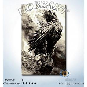 Количество цветов и сложность Гордый орёл Раскраска по номерам на холсте Hobbart DH5080061-LITE