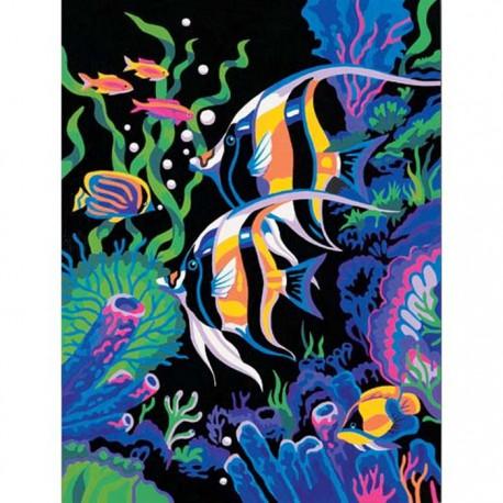 подводный мир раскраска картина по номерам Dimensions Dms 91123