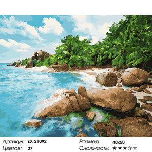 Камни на берегу Раскраска картина по номерам на холсте