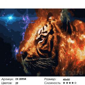 Фэнтези с тигром Раскраска картина по номерам на холсте