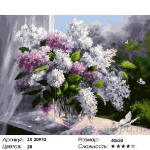 Сиреневая весна Раскраска картина по номерам на холсте