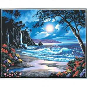 Рай в лунном свете Раскраска картина по номерам Dimensions