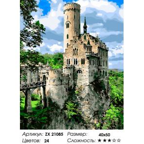 Рыцарский замок в Германии Раскраска картина по номерам на холсте ZX 21085
