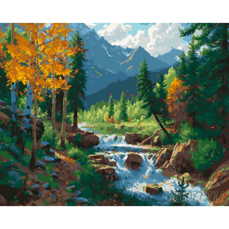 Картинка по номерам горы