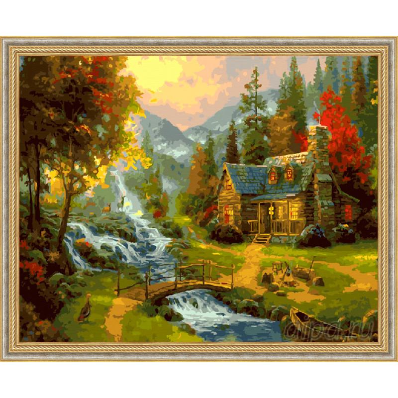 ZX 21063 Осенний пейзаж Раскраска картина по номерам на ...