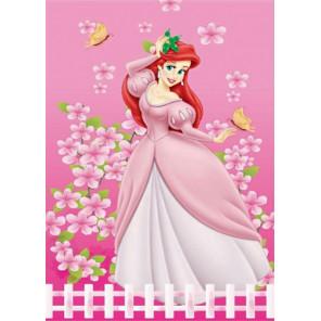 Принцесса в саду Алмазная частичная мозаика с рамкой