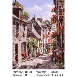Сложность и количество красок Франция. Динан Раскраска картина по номерам на холсте Белоснежка 254-AS