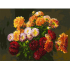Букет от Татьяны Раскраска картина по номерам на холсте Белоснежка 266-AS