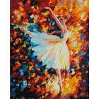 Парящая в танце Раскраска картина по номерам на холсте ZX 10145
