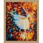 N118 Парящая в танце Раскраска картина по номерам на холсте